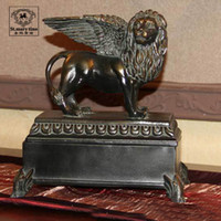 Wholesale Fashion decoration antique silver crafts birthday gift lion jewelry box av
