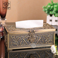 Wholesale Fashion decorative pattern box tissue pumping box table napkin paper box fashion