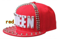 Wholesale 2013 Punk Style QUEEN letter flat brimmed hat Plastic sheet rivets hip hop cap Snapback caps