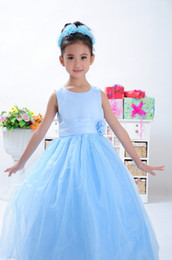 Wholesale Girls summer three colors princess dress veil wedding flower girls Dresses