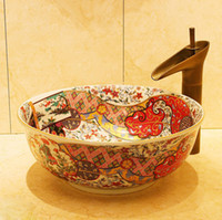 Wholesale Art counter basin xianlianchi ceramic basin flower pot