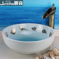 Wholesale Fashion art basin wash basin counter basin wash basin shell white