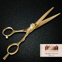 Wholesale High quality gold hair salon scissors jewelry screw cutting scissor Stainless Steel hair salon tools