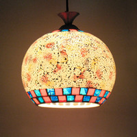 Wholesale European minimalist chandelier chandeliers stained glass lamps lighting popcorn restaurant