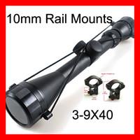 Wholesale Pro x40 Hunting Mil Dot Air Rifle Gun Outdoor Optics Sniper Deer Hunting Scope mm Rail MOUNTS