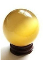 Wholesale 40mm Yellow Opal Crystal Ball Orb Sphere Healing