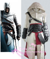 altair jacket - Assassin s Creed II Altair Cosplay Costume Whole Outfit Custom made in Any size Costume Jacket Coat Halloween gift Hero