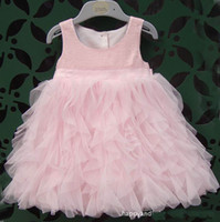 Wholesale children clothes girls summer pink princess dress veil wedding dress tutu dresses dandys