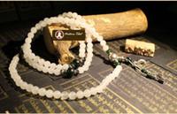 Wholesale P Tibetan Buddhist Natural White Jade agate silver beads bracelet mm jade wrist beads necklace mala beads