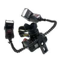 Cheap Flexible Octopus Dual-arm Dual-shoe Flash Bracket Holder Mount For Speedlite