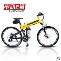Wholesale inch double disc brake suspension rover mountain bike folding electric vehicles refitted electric bicycle