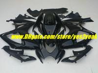 Precio de Suzuki gsxr750 fairing-Kit de carenado negro brillante para SUZUKI GSXR 600 750 K6 2006 2007 GSXR600 GSXR750 06 07 Juego de carenados + 7 cinturones SD66
