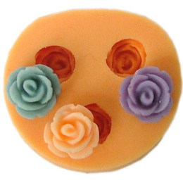 Wholesale Nicole f0102 silica gel resin flower polymer clay flower mould chocolate mould cake decoration candy