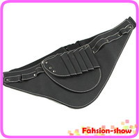 Wholesale professional Hairdressing Scissors Tools Leather Holder Holster Waist Belt Pouch Bag pockets Free