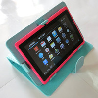 ainol novo 7 aurora - Black Brown Blue PINK Magic Leather Case Screen Film For quot Ainol Novo Elf Aurora Basic Tablet