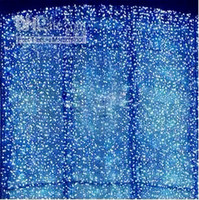 Wholesale 4pcs M LED Curtain Light Christmas ornament light Flash Color Fairy wedding Decoration shipped by express L102