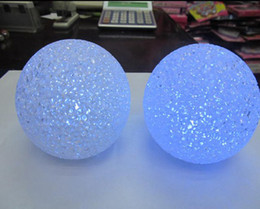 lot 10pcs fashion Seven Different Colors Changing Crystal Ball LED Night Light Night Light !