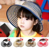 2-8years Wide Brim Hats mix-colors children sun hat   children bucket hats  Large eaves empty top hat,10pcs lot,dandys
