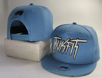 Wholesale NEW Trukfit Mob Snapback Blue Snapback hats Truk fit Snapback Caps for women men Snapbacks on Sale Ball Caps adjustable caps Top Quality