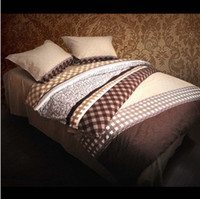 Wholesale Wedding supplies and bedding sets cotton BROWN bed in a bag for double bed set