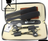 Wholesale FREE ship with scissors case and comb inch hair scissors set hair cutting scissors thinning s
