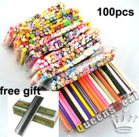 Nail Art 3D Decoration fimo canes - Can choose designs100pcs Nail Art Nail Care Fimo Canes Rods Sticks Sticker Tips Decora