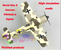 Fighter Plane aircraft propeller - 1 finished military aircraft model world war II German FW190A fighter piston propeller fighter model free ship