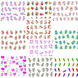 Wholesale Freeshipping X water transfer nail sticker Decal Flower designs Nail Stickers Nail Art Decoration