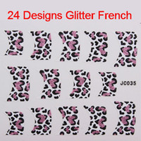 beads style magazine - 24 Styles Professional D Glitter Nail Art Stickers Decals French Tip