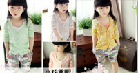 air conditioned coat - 2016 new girl kids lace textile printing air conditioning cardigan sweater children jacket coat colour QY