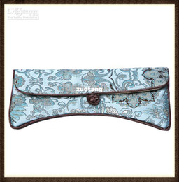 Wholesale Personalized Sunglass Case Bags Big Eyeglass Cases Silk Glasses Pouches mix color Free
