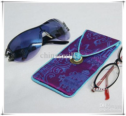 Wholesale Light Weight Eyeglass Case Glasses Case Silk Sunglass Cases mix color Free