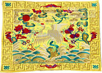 Wholesale Unusual Extra Large Placemats Designs Silk Embroidered Crane Dining Table Mat pack Free