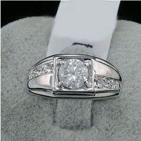 Celtic Men's Gift new fashion 2016 Swarovski crystal men Ring , white 18k gold plated finger rings ,wedding gold filled CZ diamond jewelry