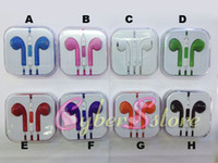 Wholesale 100pcs Colorful Stereo Earphone EarPods Headset W Mic Volume Remote For iphone G
