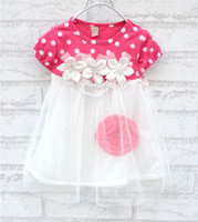 Wholesale summer New Children s clothing baby girls clothes kids tutu dress girl dress with flower