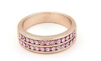 Wholesale Colorful Double row shiny diamond Austrian crystals Ring Crystal fashion jewelry cool