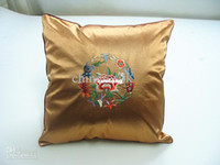 Wholesale Chinese Zipper Pillow Cushion Cover Latest High End Silk Fabric Embroidery Designs Free