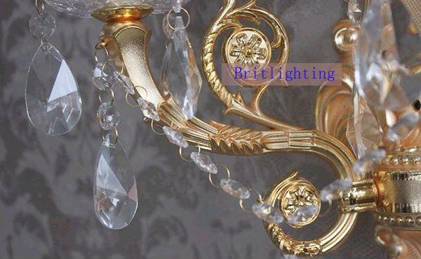 Applique da parete di cristallo moderna di cristallo lampada da ...