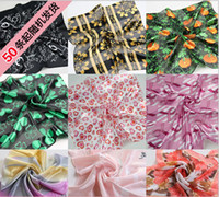 Wholesale DHL mixed Color Square Scarves Christmas Scarfs Infinity Scarf Pattern Shawl Silk scarves new designs hot items recommend