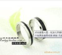 Unisex beijing steel - fashion Beijing love story titanium steel ring individuality tide couples rings epoxy non magnetic