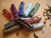 Wholesale Zippered Pencil Pouch Cosmetic Pretty Silk Tassel Waterproof Storage Bags mix color Free