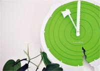 Digital   32pcs lot 14 inch Plastic Annual Ring Clock, Natual Log Texture, Novelty Wall Clock, Gift Timepiece, Free Shipping