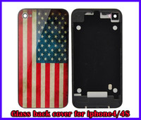 New Country Flag Glass Back Cover Housing Battery Door Repla...