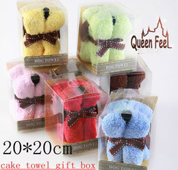 Wholesale 20 cm Party Towel Cartton dog cake towel Snoopy Wedding Birthday gift cake towels color u pick pc