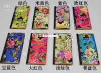 Wholesale Designer Multiple Credit Card Holder Wallet Coin Pouch Silk Cloth Metal clasp mix Free