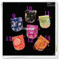Jewelry Pouches,Bags sandwich packaging - Silk Jewelry Storage Cases Bags Drawstring The sponge sandwich upscale Gift Packaging Free