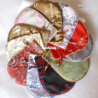 Wholesale Cloth Jewelry Gift Pouches Drawstring Silk The sponge sandwich upscale Packaging Bags Free