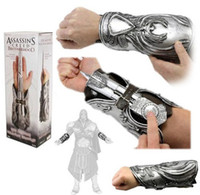 armored games - Assassin s Creed Hidden Blade Brotherhood Ezio Auditore Gauntlet Cosplay Replica Ezio Auditore s Armored Vambrace weapon Toy Gift