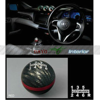 Wholesale High Quality For Mugen Red Line Real Carbon speed Shift Gear Knob For Honda